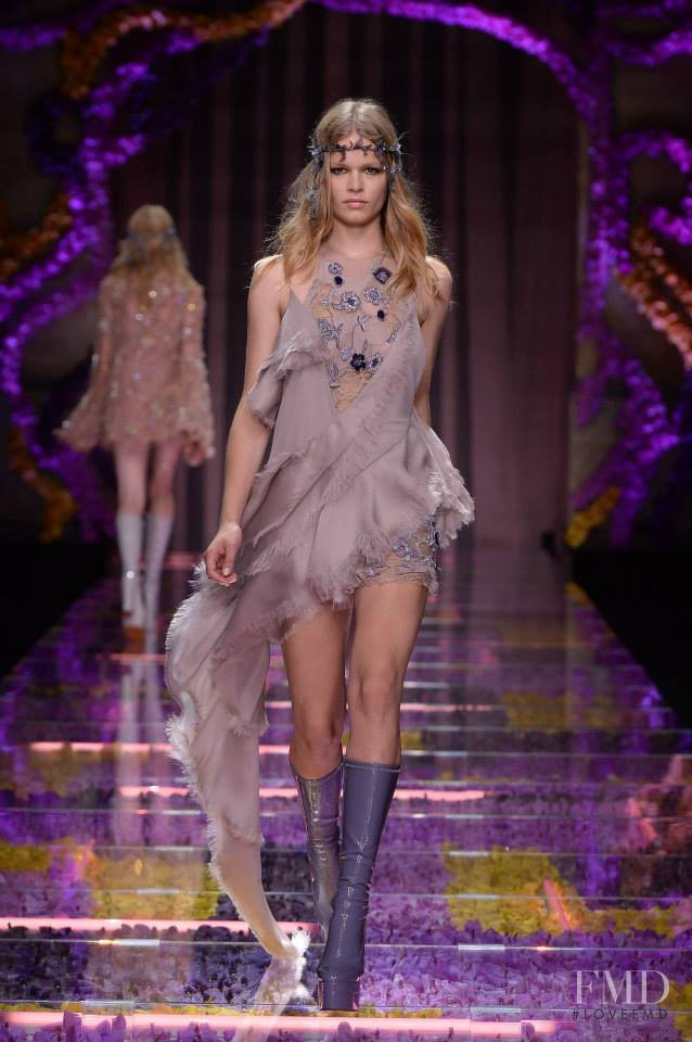 Anna Ewers featured in  the Atelier Versace fashion show for Autumn/Winter 2015