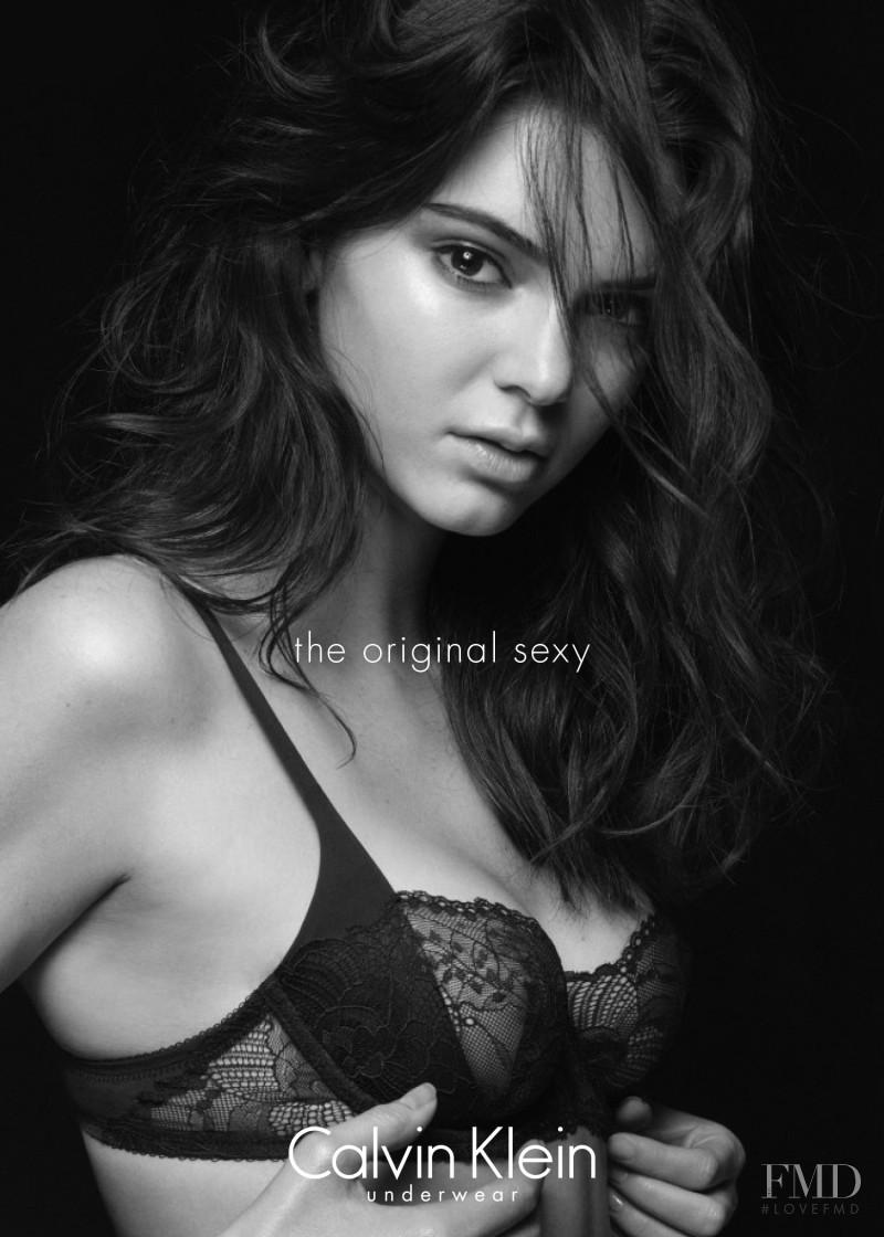 Kendall Jenner featured in  the Calvin Klein Underwear advertisement for Autumn/Winter 2015