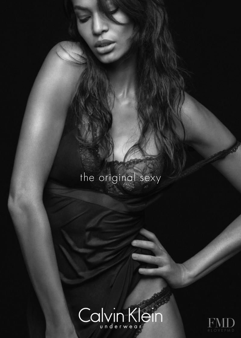 Joan Smalls featured in  the Calvin Klein Underwear advertisement for Autumn/Winter 2015