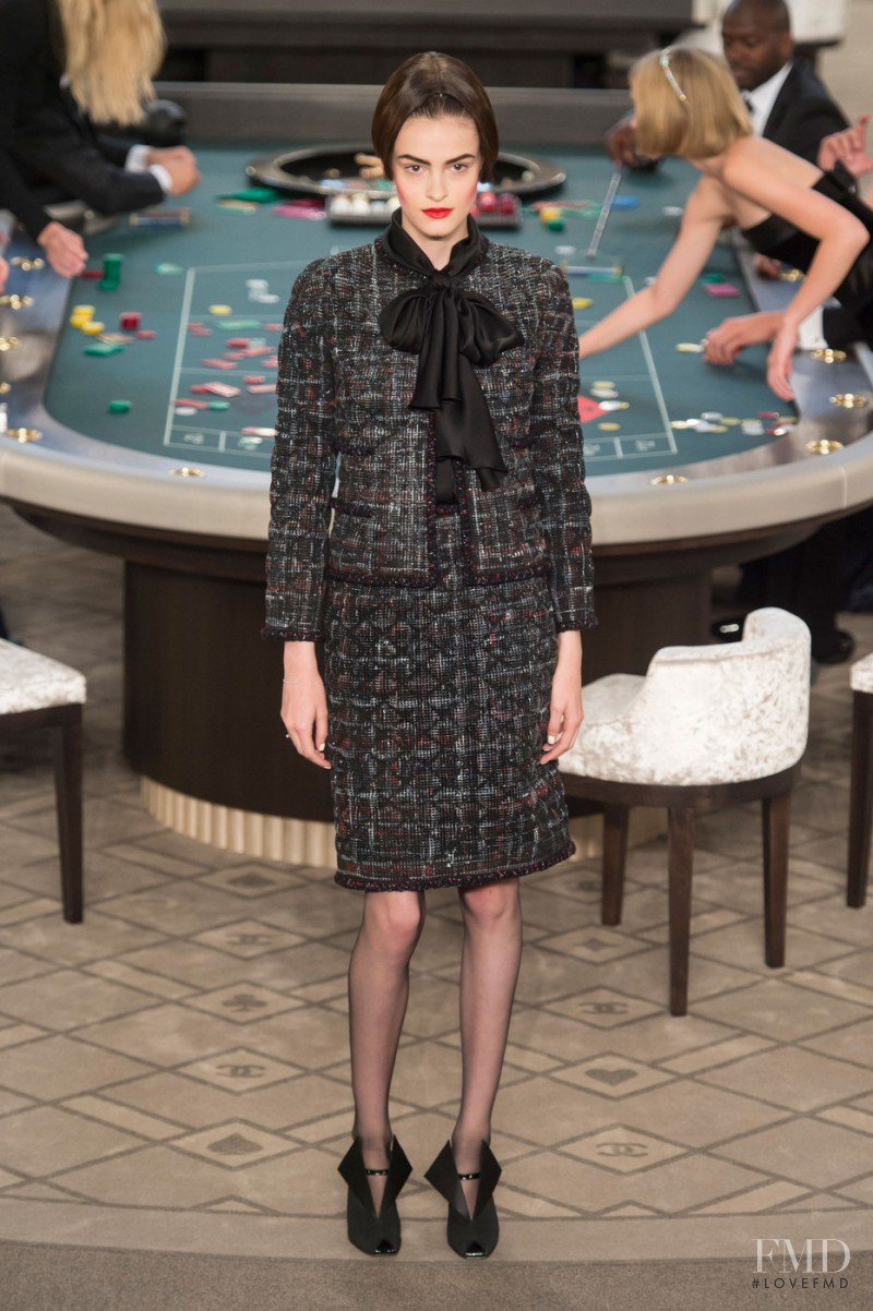 Kremi Otashliyska featured in  the Chanel Haute Couture fashion show for Autumn/Winter 2015