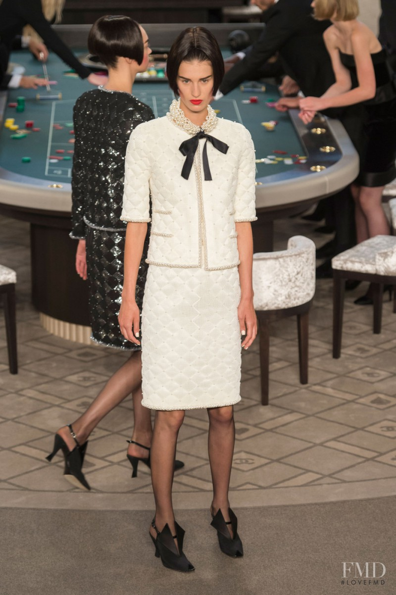 Marte Mei van Haaster featured in  the Chanel Haute Couture fashion show for Autumn/Winter 2015