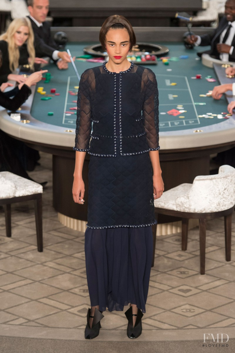 Binx Walton featured in  the Chanel Haute Couture fashion show for Autumn/Winter 2015