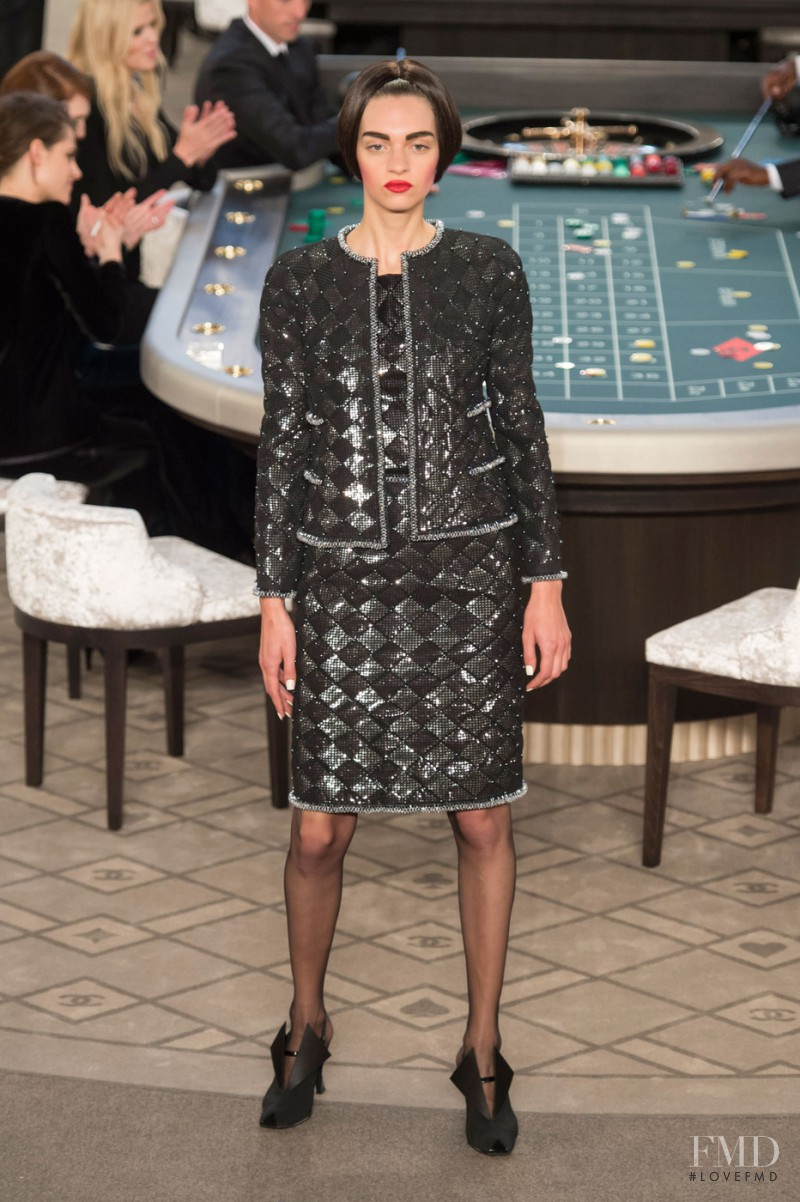 Magda Laguinge featured in  the Chanel Haute Couture fashion show for Autumn/Winter 2015