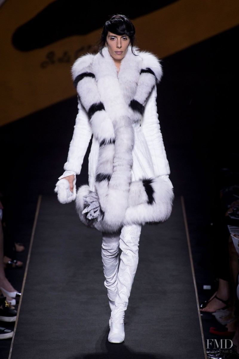 Jamie Bochert featured in  the Fendi Couture fashion show for Autumn/Winter 2015