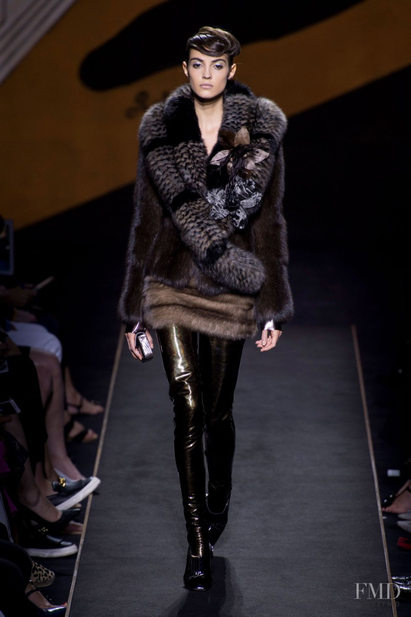 Camille Hurel featured in  the Fendi Couture fashion show for Autumn/Winter 2015