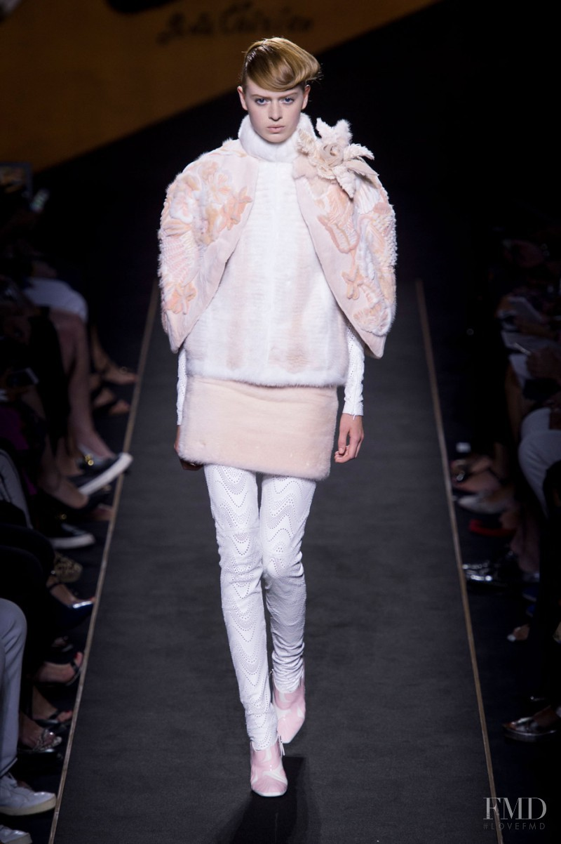 Emmy Krüger featured in  the Fendi Couture fashion show for Autumn/Winter 2015