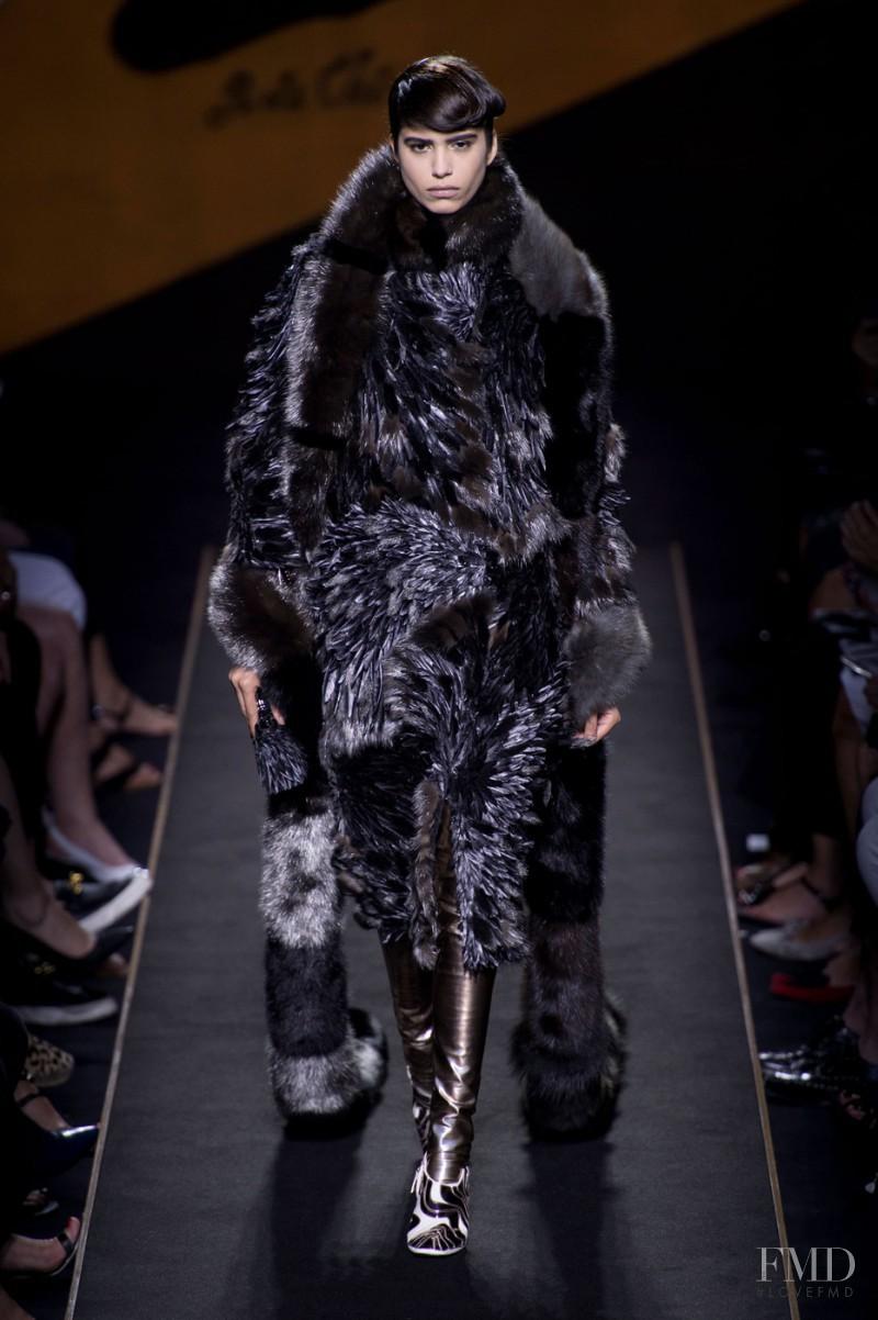 Mica Arganaraz featured in  the Fendi Couture fashion show for Autumn/Winter 2015