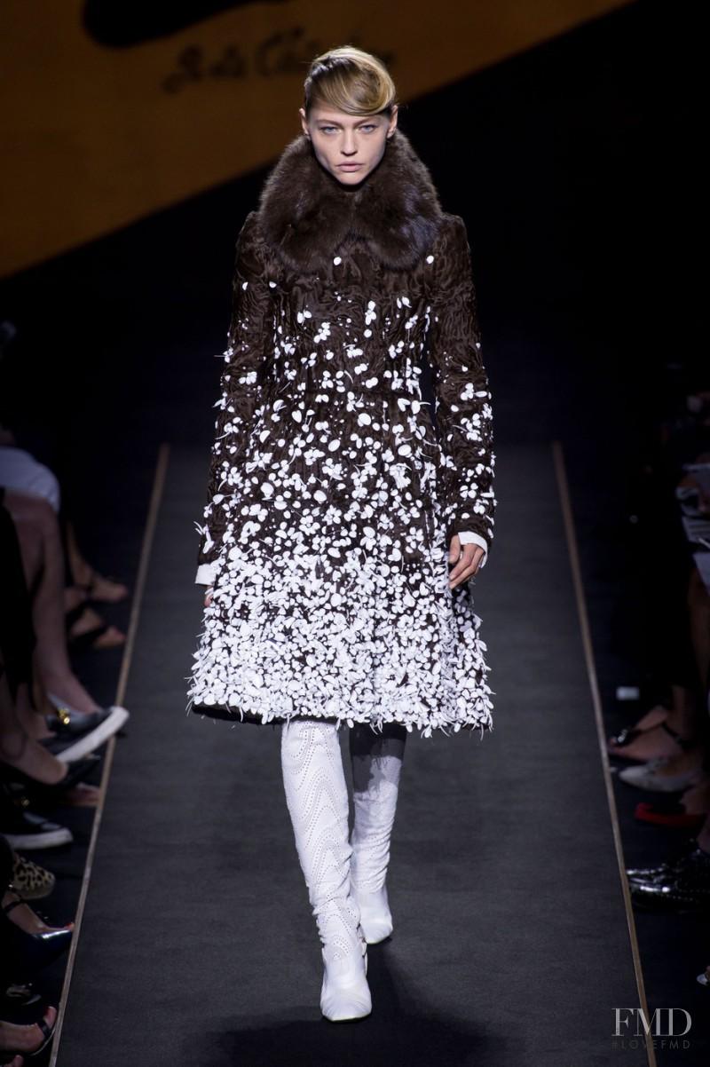 Sasha Pivovarova featured in  the Fendi Couture fashion show for Autumn/Winter 2015
