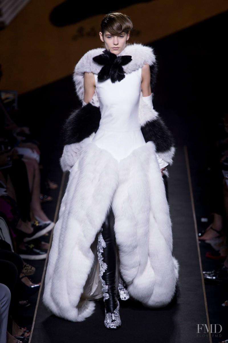Inga Dezhina featured in  the Fendi Couture fashion show for Autumn/Winter 2015