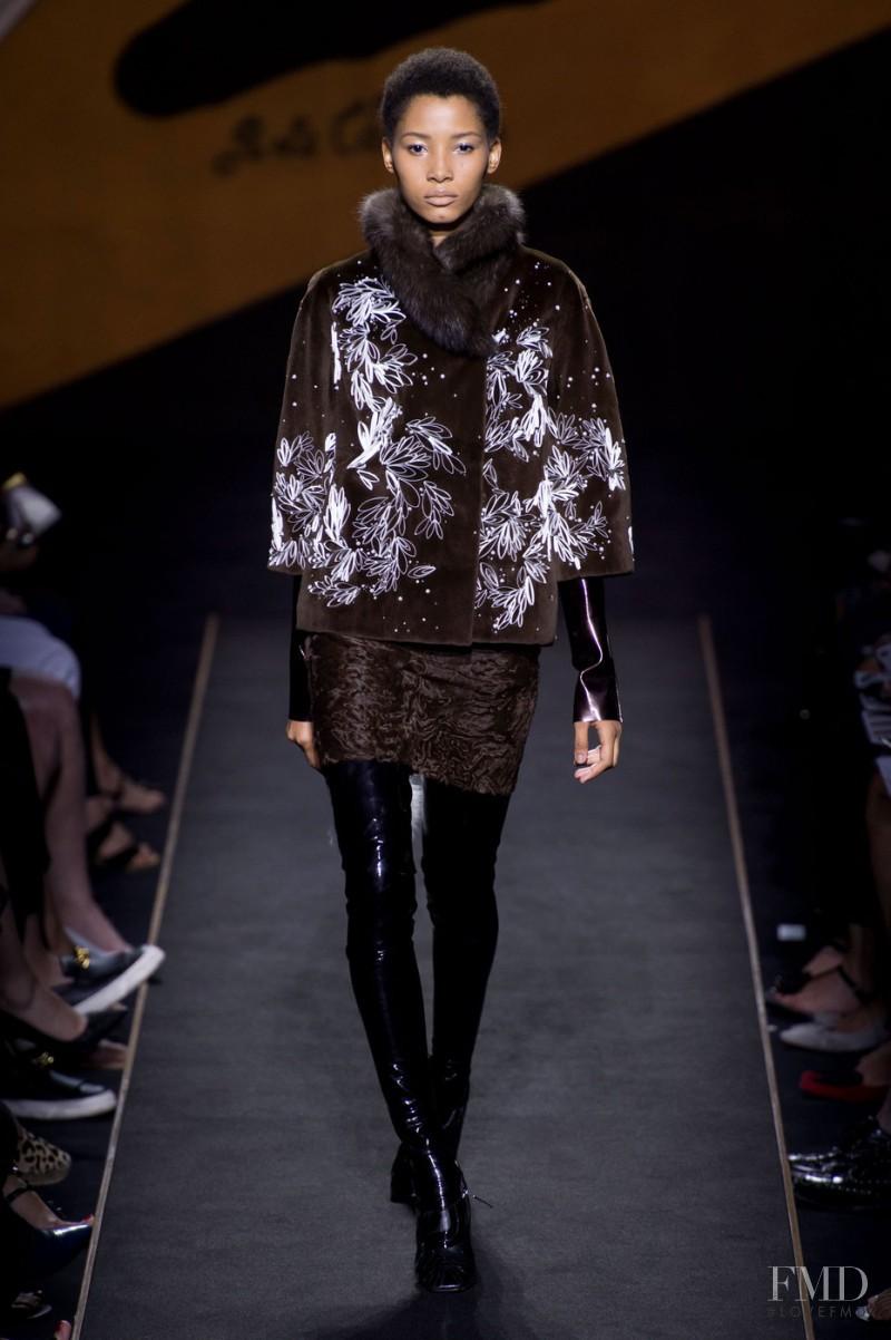Lineisy Montero featured in  the Fendi Couture fashion show for Autumn/Winter 2015