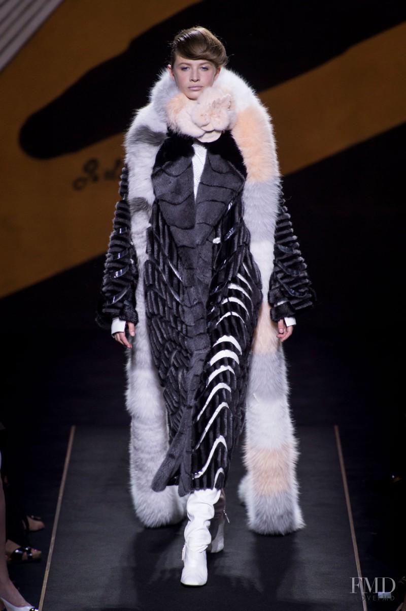 Anna Lund Sorensen featured in  the Fendi Couture fashion show for Autumn/Winter 2015