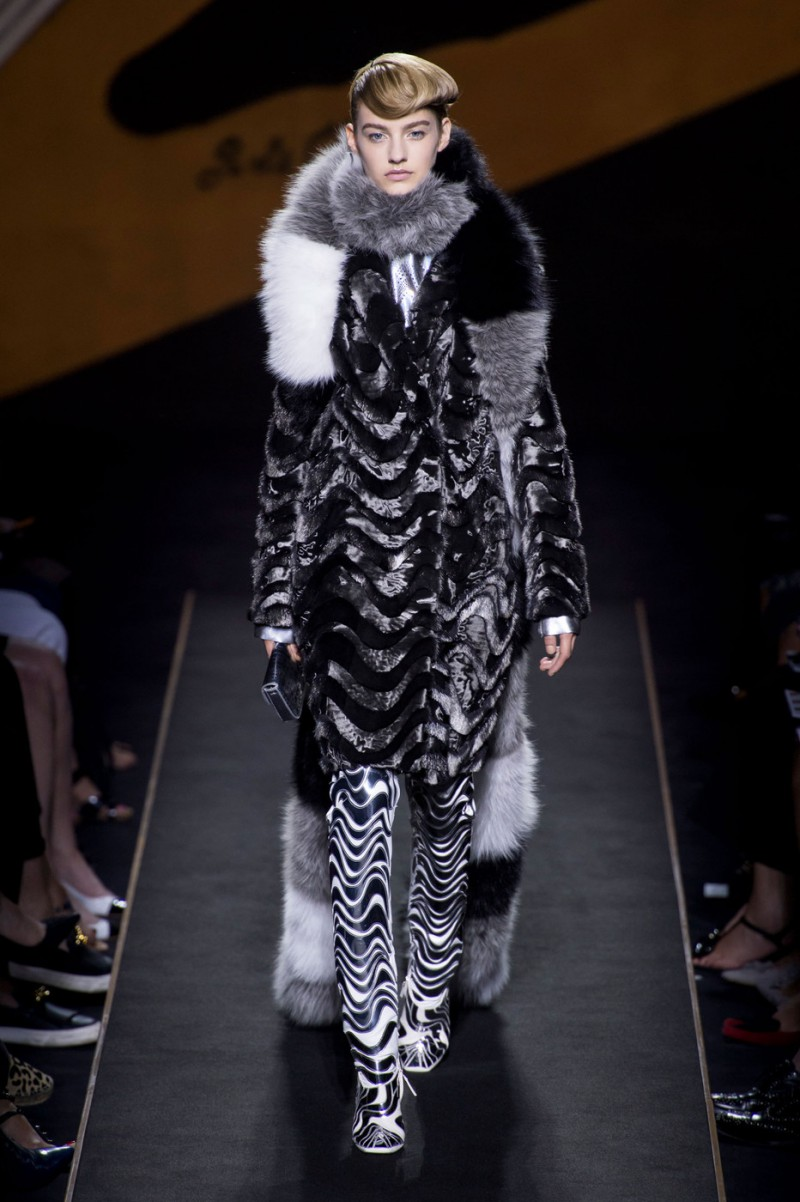 Maartje Verhoef featured in  the Fendi Couture fashion show for Autumn/Winter 2015