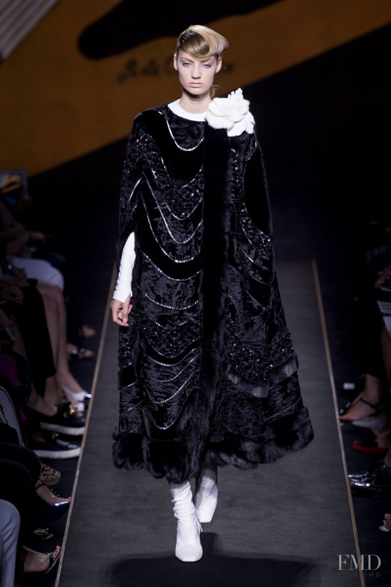 Susanne Knipper featured in  the Fendi Couture fashion show for Autumn/Winter 2015