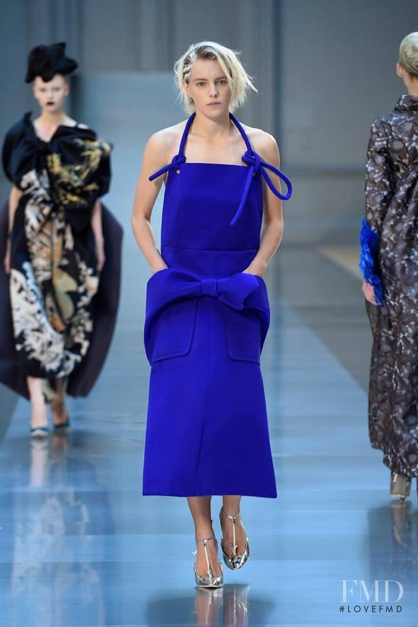 Erika Linder featured in  the Maison Martin Margiela Artisanal fashion show for Autumn/Winter 2015