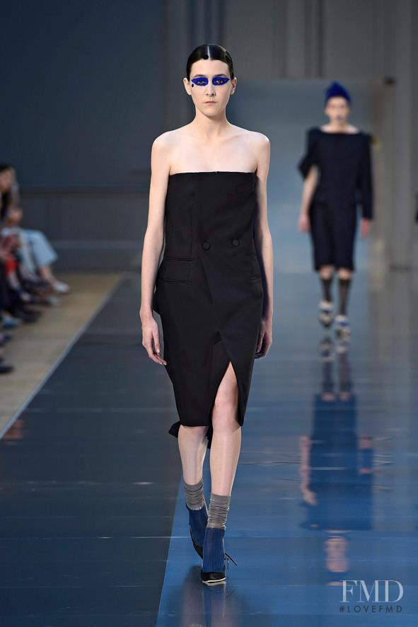 Mar Gonzalez featured in  the Maison Martin Margiela Artisanal fashion show for Autumn/Winter 2015