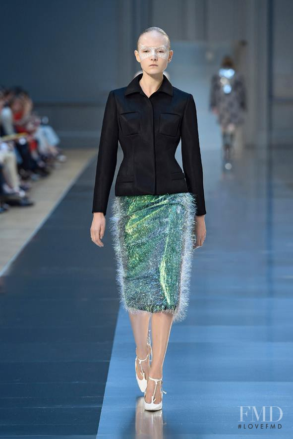 Maja Salamon featured in  the Maison Martin Margiela Artisanal fashion show for Autumn/Winter 2015