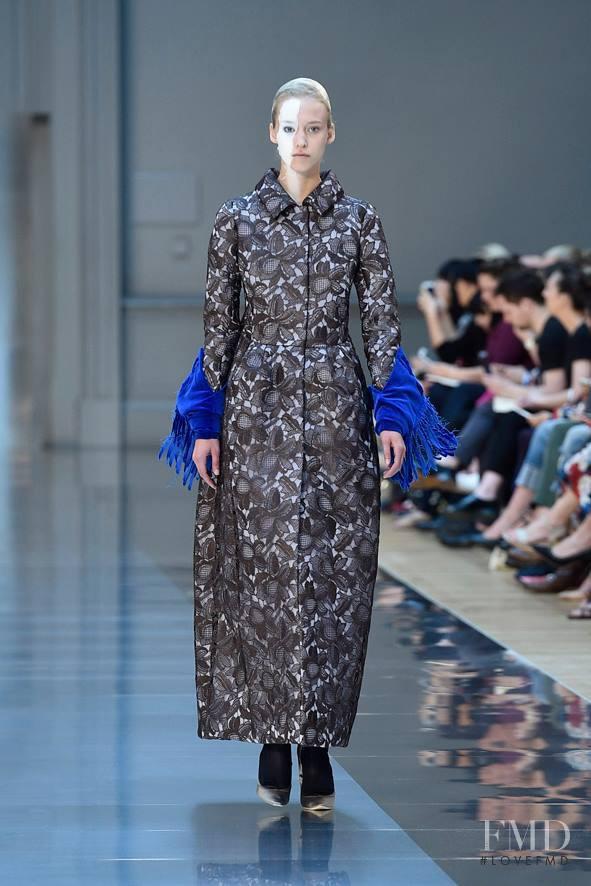 Eva Berzina featured in  the Maison Martin Margiela Artisanal fashion show for Autumn/Winter 2015