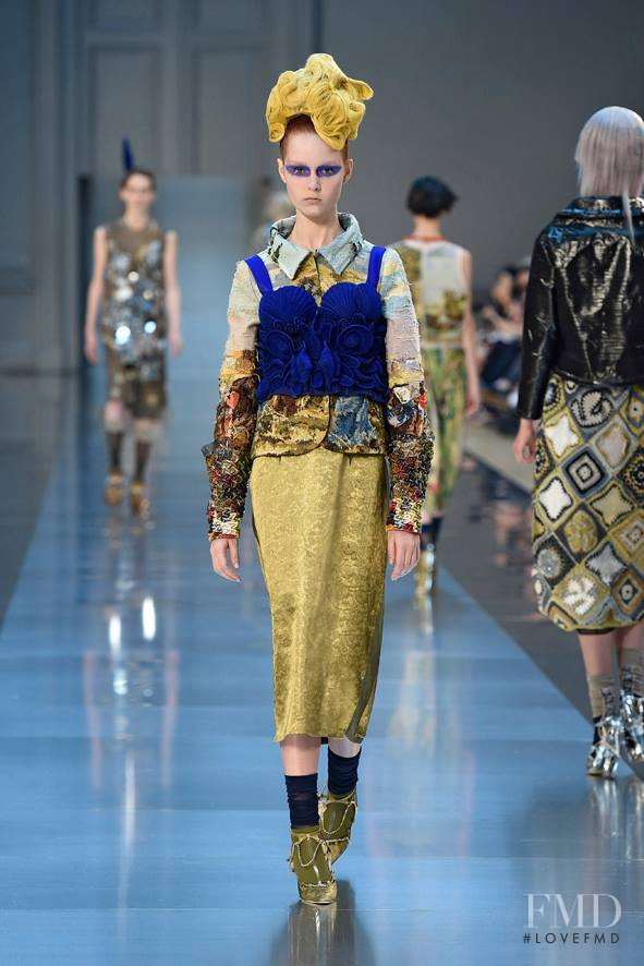 Grace Simmons featured in  the Maison Martin Margiela Artisanal fashion show for Autumn/Winter 2015