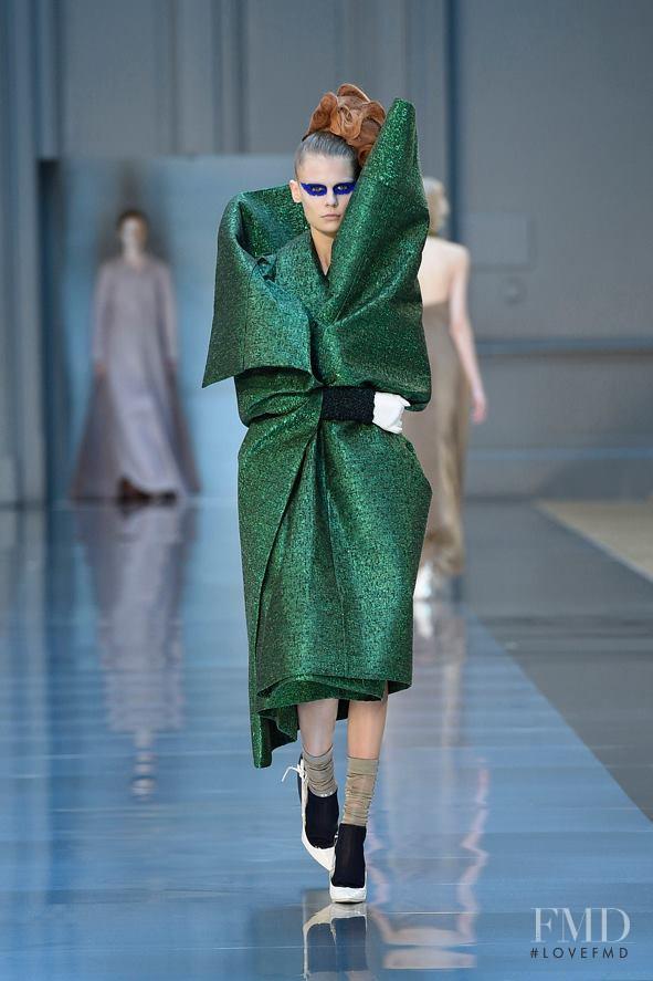 Alexandra Elizabeth Ljadov featured in  the Maison Martin Margiela Artisanal fashion show for Autumn/Winter 2015