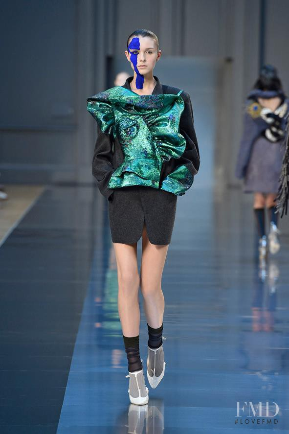 Jada Joyce featured in  the Maison Martin Margiela Artisanal fashion show for Autumn/Winter 2015