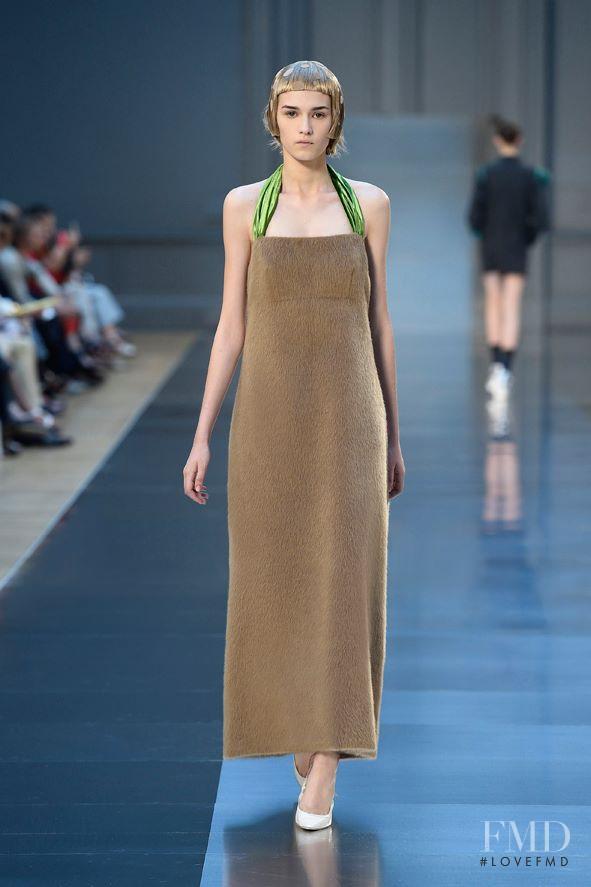 Irina Djuranovic featured in  the Maison Martin Margiela Artisanal fashion show for Autumn/Winter 2015