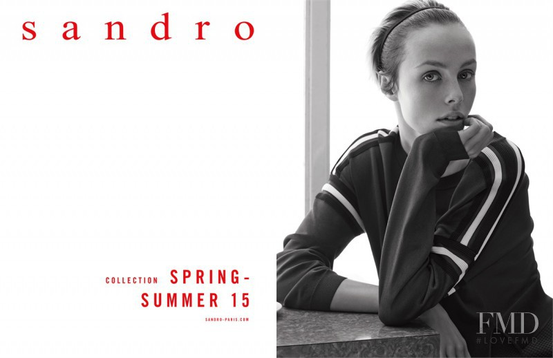 Edie Campbell featured in  the Sandro advertisement for Spring/Summer 2015