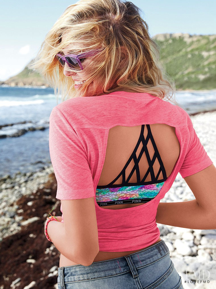 Rachel Hilbert featured in  the Victoria\'s Secret PINK Swim catalogue for Spring/Summer 2015