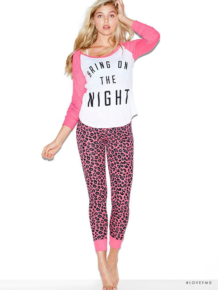 Rachel Hilbert featured in  the Victoria\'s Secret PINK catalogue for Spring/Summer 2015
