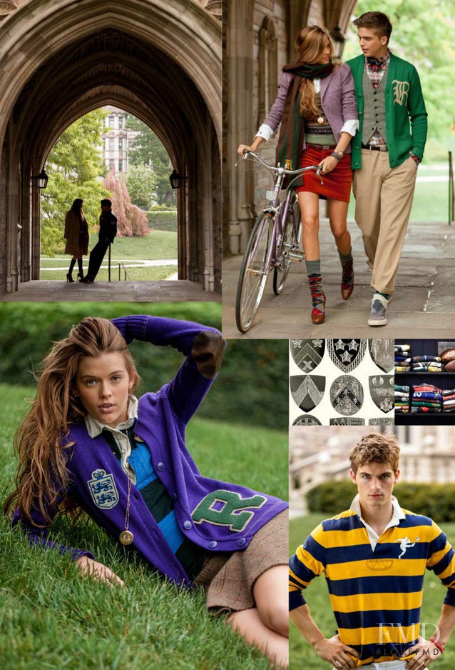 Shlomit Malka featured in  the Rugby advertisement for Fall 2012