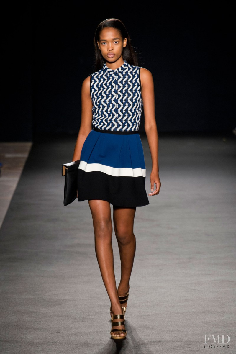 Marihenny Rivera Pasible featured in  the Les Copains fashion show for Spring/Summer 2013