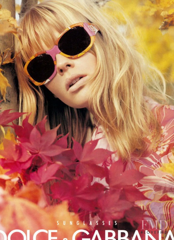 Julia Stegner featured in  the Dolce & Gabbana advertisement for Spring/Summer 2004
