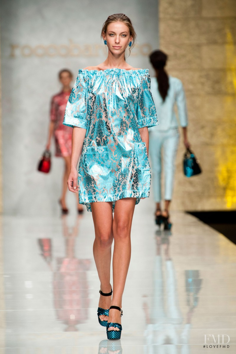 Iryna Lysogor featured in  the roccobarocco fashion show for Spring/Summer 2013
