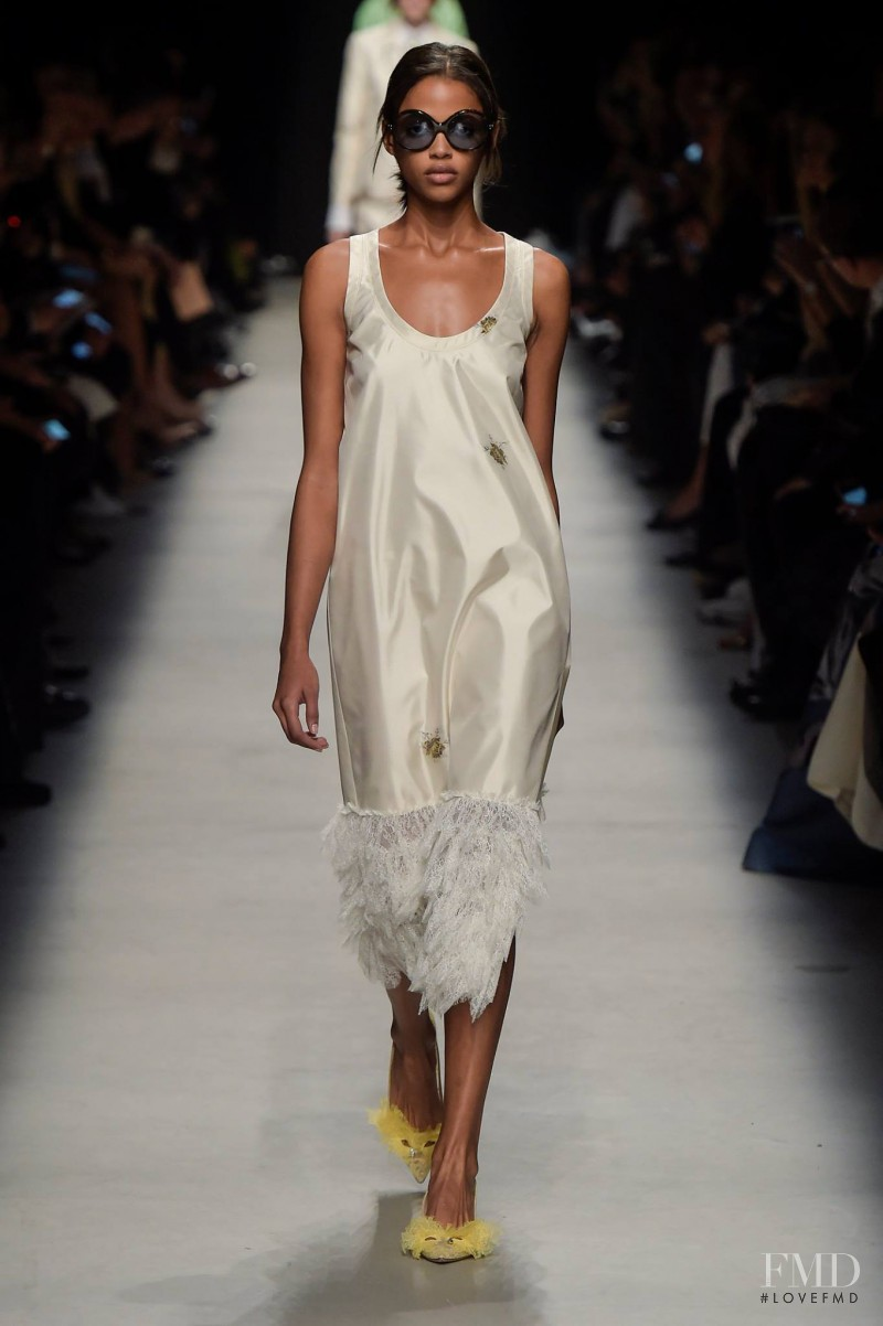 Aya Jones featured in  the Rochas fashion show for Spring/Summer 2016