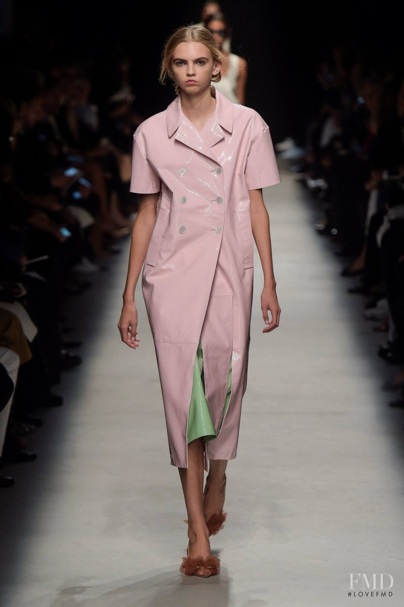 Molly Bair featured in  the Rochas fashion show for Spring/Summer 2016