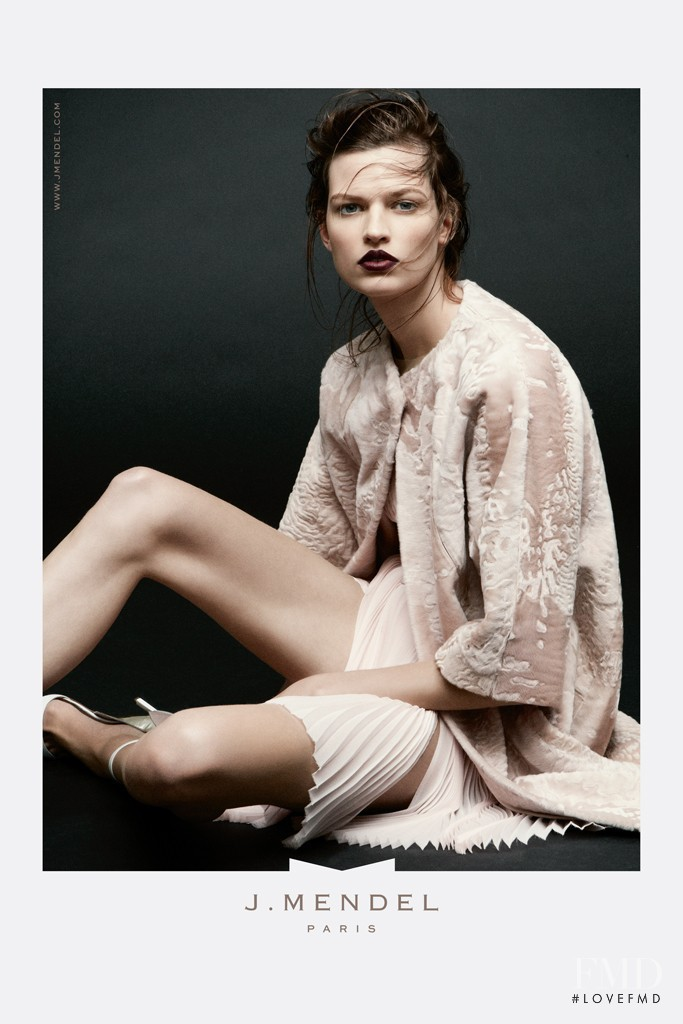 Bette Franke featured in  the J Mendel advertisement for Spring/Summer 2013