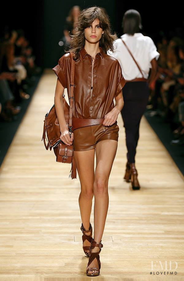 Antonina Petkovic featured in  the Barbara Bui fashion show for Spring/Summer 2016