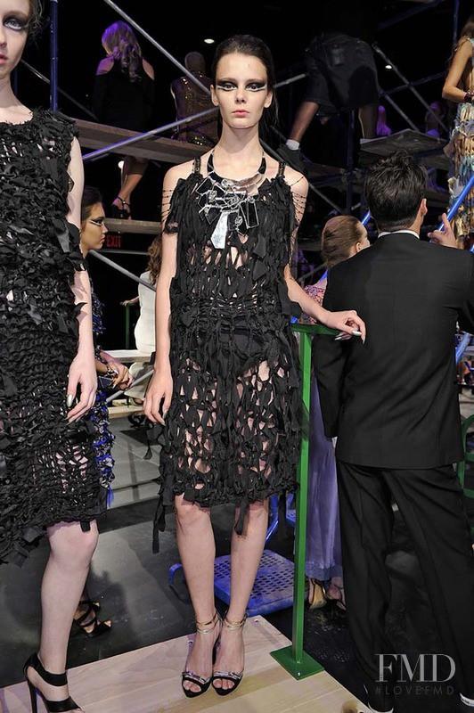 Nikole Ivanova featured in  the Erickson Beamon fashion show for Spring/Summer 2013