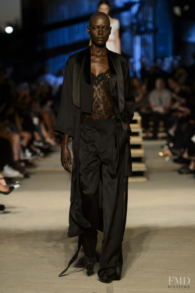 Ajak Deng featured in  the Givenchy fashion show for Spring/Summer 2016