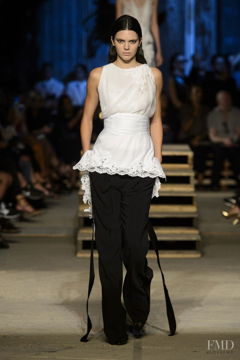 Kendall Jenner featured in  the Givenchy fashion show for Spring/Summer 2016