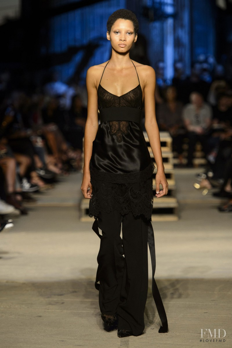 Lineisy Montero featured in  the Givenchy fashion show for Spring/Summer 2016