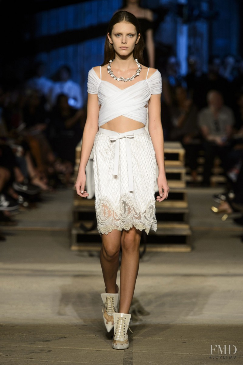 Anja Cihoric featured in  the Givenchy fashion show for Spring/Summer 2016