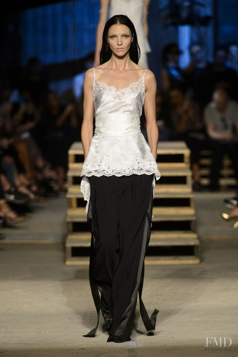 Mariacarla Boscono featured in  the Givenchy fashion show for Spring/Summer 2016