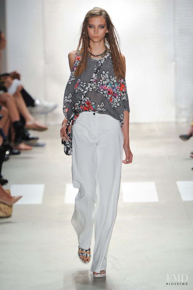 Paige Honeycutt featured in  the Nicole Miller fashion show for Spring/Summer 2016