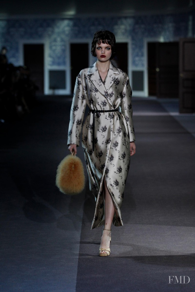 Daphne Groeneveld featured in  the Louis Vuitton fashion show for Autumn/Winter 2013