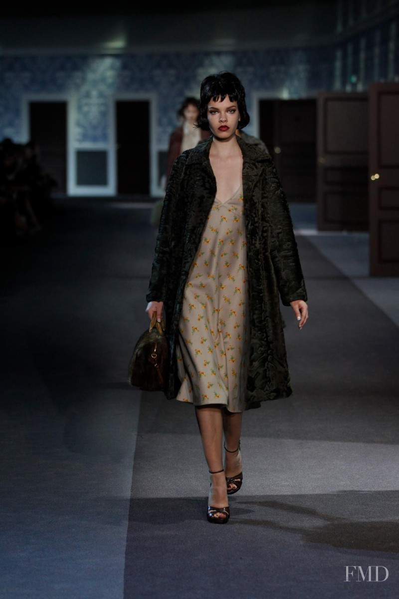 Valerija Sestic featured in  the Louis Vuitton fashion show for Autumn/Winter 2013