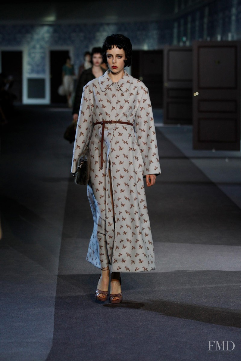 Edie Campbell featured in  the Louis Vuitton fashion show for Autumn/Winter 2013