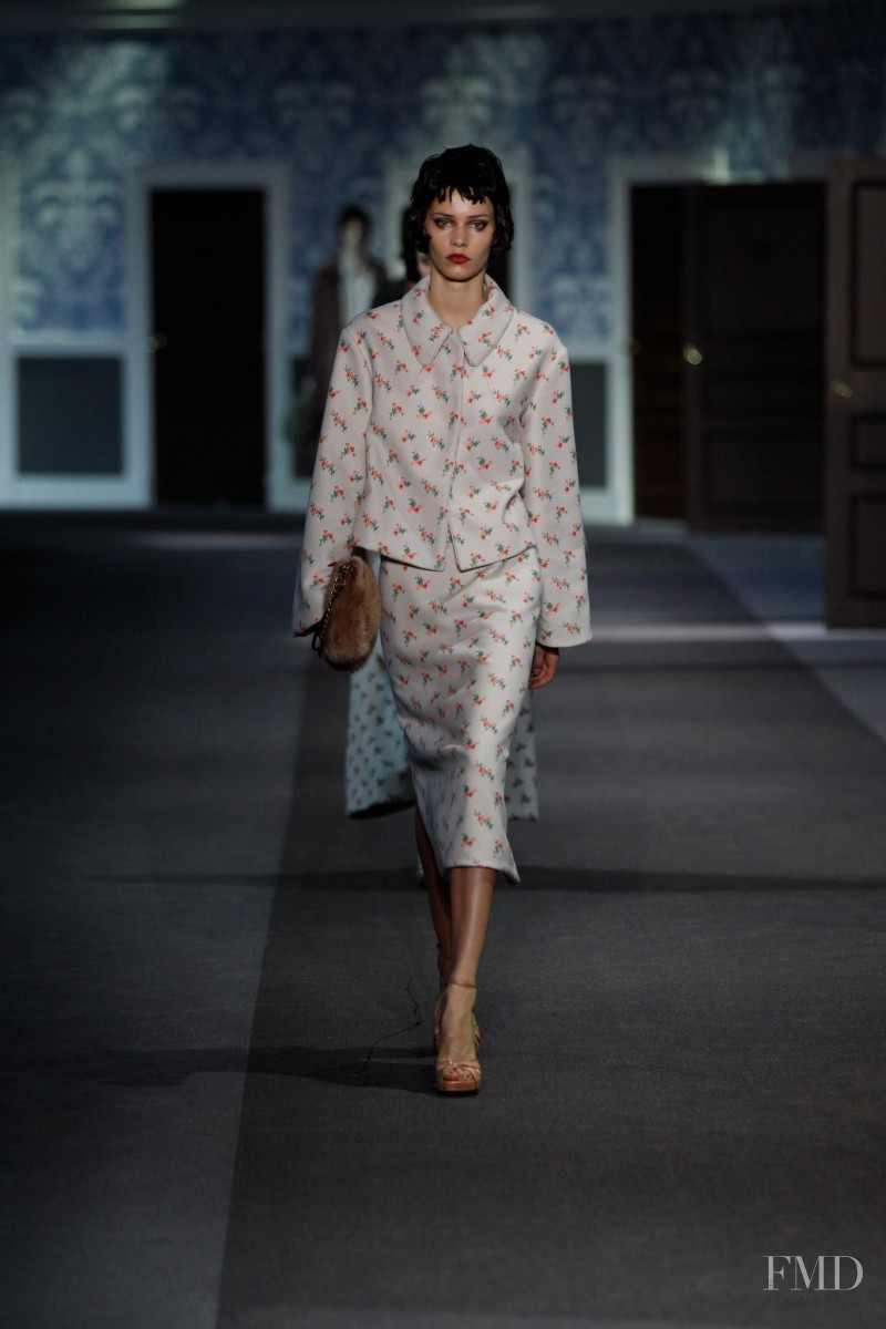 Kirstin Kragh Liljegren featured in  the Louis Vuitton fashion show for Autumn/Winter 2013