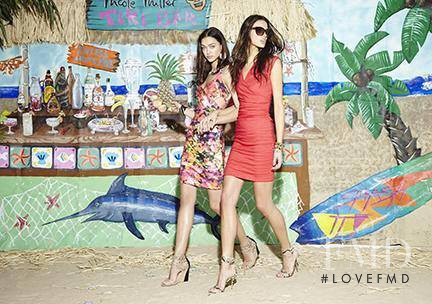 Anja Leuenberger featured in  the Nicole Miller lookbook for Summer 2015