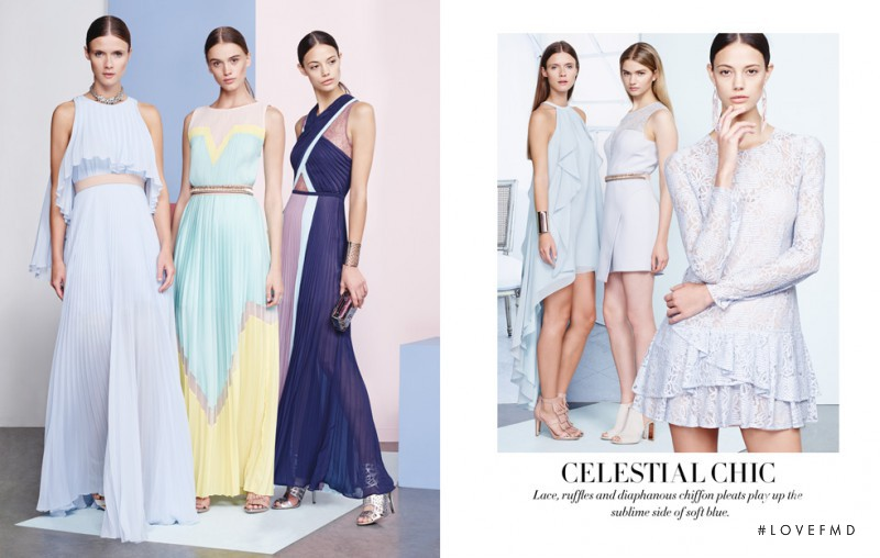 Anja Leuenberger featured in  the BCBG By Max Azria The Dress Edit catalogue for Spring/Summer 2015