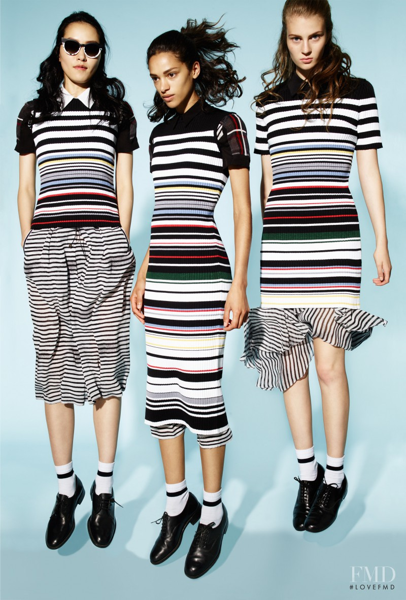 Pong Lee featured in  the Preen Line fashion show for Spring/Summer 2016